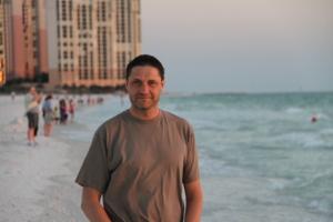 Bjørn Lynne on Florida beach